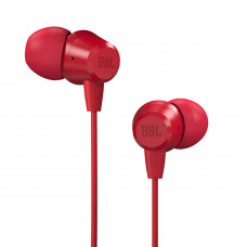 JBL T50HI by Harman Wired Headphone with Noise Isolation Mic RED