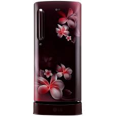 LG 190 L Direct Cool Single Door 3 Star Refrigerator with Base Drawer  (Scarlet Plumeria, GL-D201ASPX)