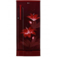 LG 188 L 3 STAR DIRECT-COOL SINGLE DOOR REFRIGERATOR, RUBY GLOW, WITH DRAWER (GL-D191KRGD)