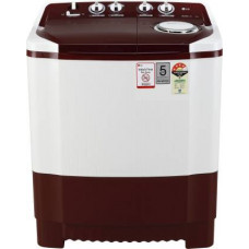 LG 7 kg 4 Star Rating Semi Automatic Top Load White, Maroon  (P7010RRAY)