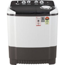 LG 8 kg 5 Star Rating Semi Automatic Top Load Grey, White  (P8035SGMZ)