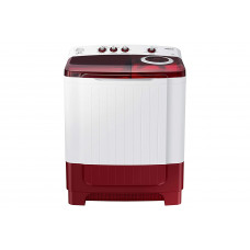 Samsung 8.5 Kg Semi-Automatic 5 Star Top Loading Washing Machine (WT85R4200RR/TL, Light Grey, Red Lid (Transparent)